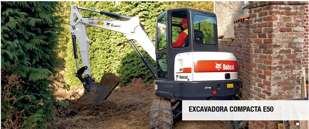 Mini excavadora Bobcat E50 en alquiler
